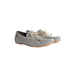 Burton - Blue leather driving loafers