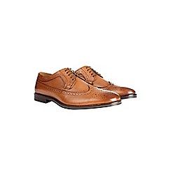 Burton - Tan leather brogue shoes