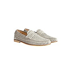 Burton - Grey suede weave loafers