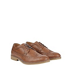 Burton - Tan leather look brogues