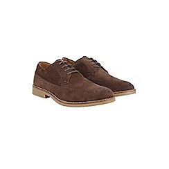 Burton - Brown suede look brogues