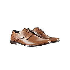 Burton - Tan leather brogue shoes