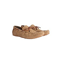 Burton - Beige leather driving loafers