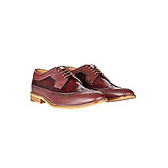Burton - Burgundy leather brogues