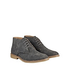 Burton - Charcoal black desert boots