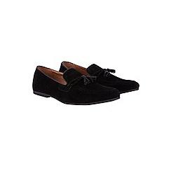 Burton - Black suede look tassel loafers