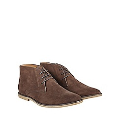 Burton - Brown suede look desert boots