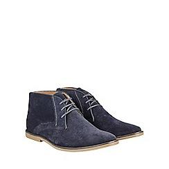 Burton - Blue suede look desert boots