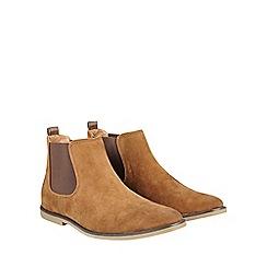 Burton - Tan suede look chelsea boots