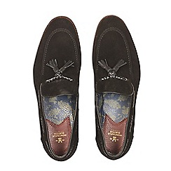 Burton - Montague burton black suede tassel loafers