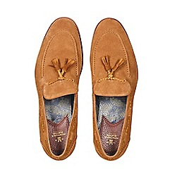 Burton - Montague burton tan suede loafers