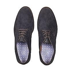 Burton - Navy suede look desert shoes