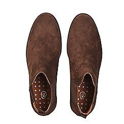 Burton - Brown suede look Chelsea boots
