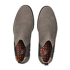Burton - Grey suede look Chelsea boots