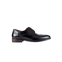 Burton - Black leather brogues