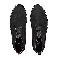 Burton - Charcoal black leather chukka boots