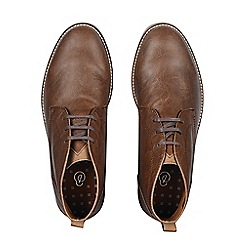 Burton - Tan leather look chukka boots