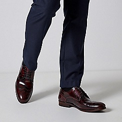 Burton - Burgundy leather hi shine brogues