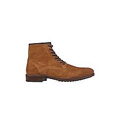 Burton - Tan suede zip boots