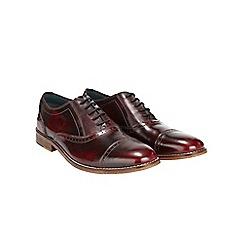 Burton - Burgundy leather hi shine