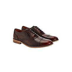 Burton - Burgundy leather hi shine shoes