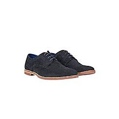 Burton - Navy suede desert shoes