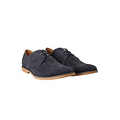 Burton - Navy suede look desert shoes