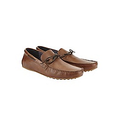 Burton - Tan leather driving loafers