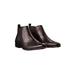 Burton - Black leather look chelsea boots