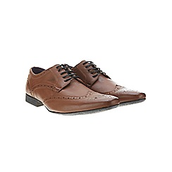 Burton - Tan leathe look formal shoes