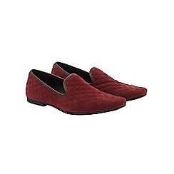 Burton - Burgundy quilted loafers
