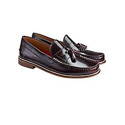 Burton - Burgundy leather tassel loafers