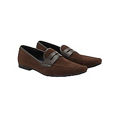 Burton - Brown saddle loafers