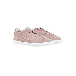 Burton - Pink suede trainers