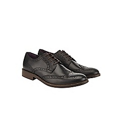 Burton - Black leather brogues