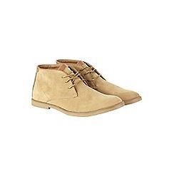 Burton - Beige desert boots
