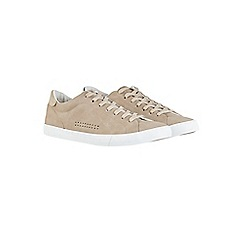 Burton - Taupe suede look trainers