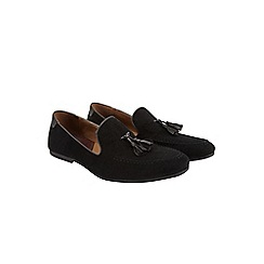 Burton - Black tassel loafers