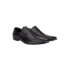 Burton - Black leather slip on shoes
