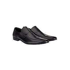 Burton - Black leather slip on shoes