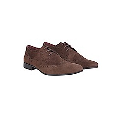 Burton - Brown leather look formal shoes