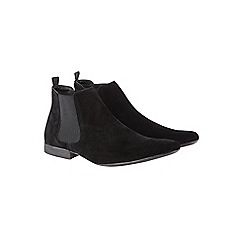 Burton - Black suede look chelsea boots