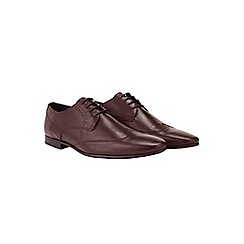 Burton - Burgundy leather wingcap shoes