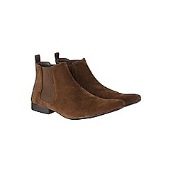 Burton - Brown suede look chelsea boots