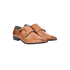 Burton - Tan leather monk shoes