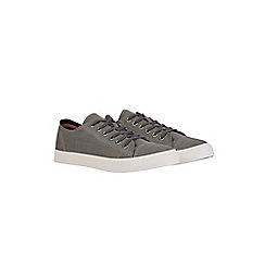 Burton - Grey canvas plimsolls