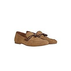 Burton - Beige suede look tassel loafers