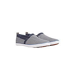 Burton - Grey denim slip on plimsolls