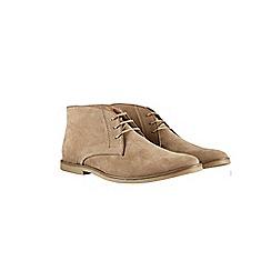 Burton - Beige suede look desert boots