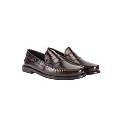 Burton - Burgundy leather loafers